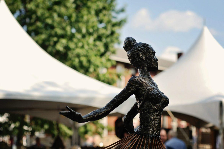 Dancer Sculpture at the Y-Bridge Arts Festival