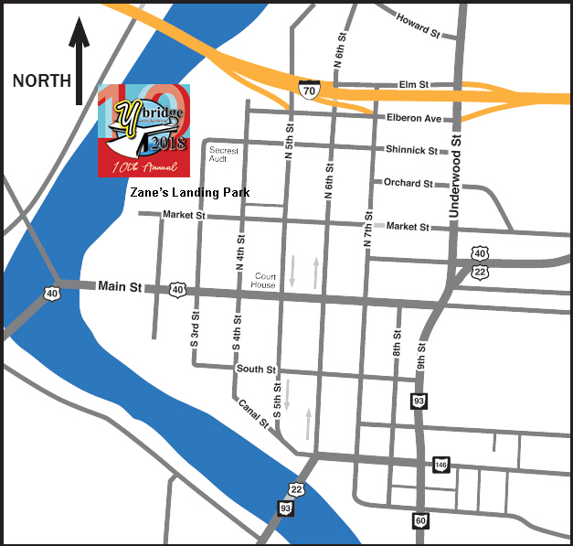 Directions to the Y-Bridge Arts Festival